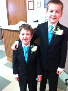 andrew and my nephew. Just two of the ringbearers