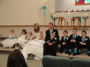 all the flower girls and ringbearers