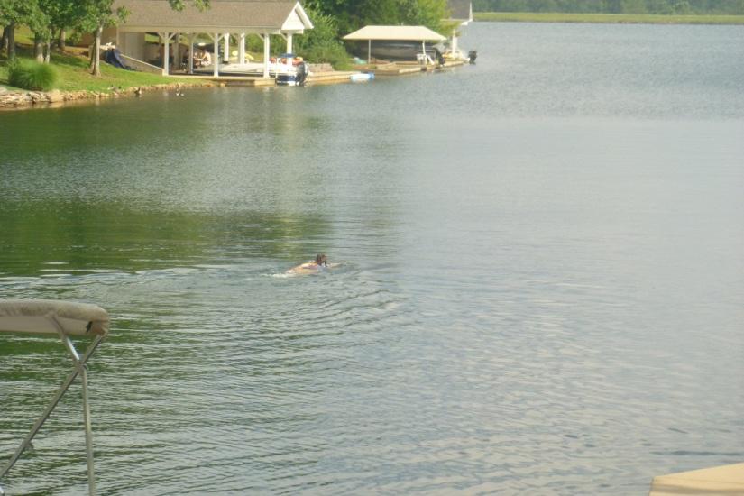 me swimming!