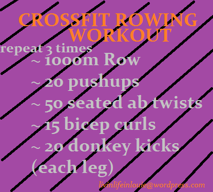 crossfit rowing workout